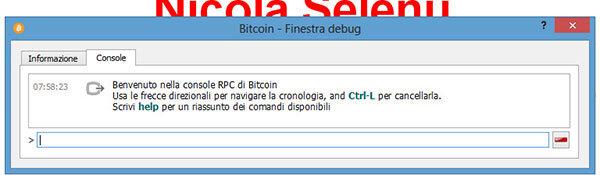 bitcoin qt console bitcoinqt debug importare chiavi private finestra debug bitcoin btc