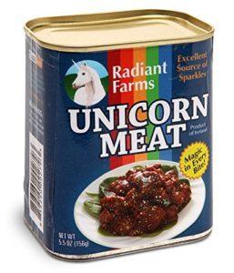 oggetti assurdi - carne di unicorno