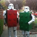 costume di carnevale guerre stellari maschera stormtrooper cosplay lego star wars mattoncini starwars