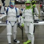 costume di carnevale guerre stellari maschera stormtrooper cosplay star wars starwars gonzo e kermit muppets