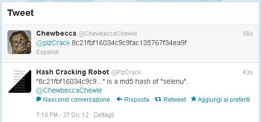 crackare md5 decodificare hash md5 twitter hacking