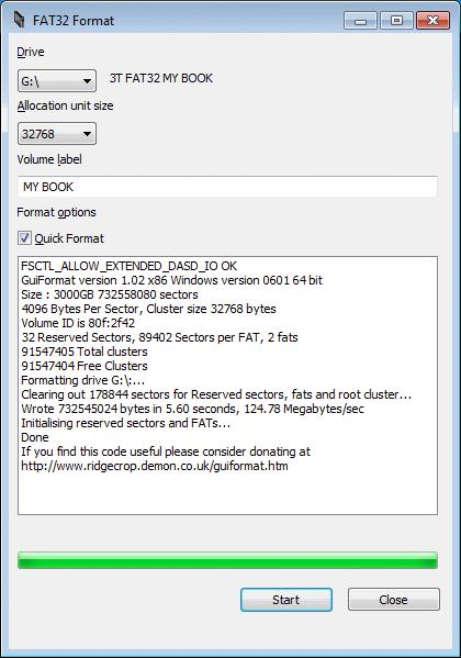 Come superare il limite di 32GB del FAT32