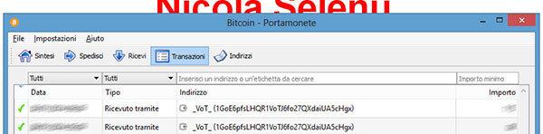 transazioni bitcoin monete btc bitcoin-qt bitcoinqt transazioni ricevere denaro